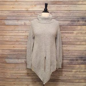 Anthropologie Moth Gray Turtleneck Sweater